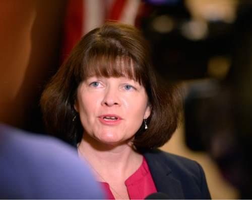 Al Hartmann  |  The Salt Lake Tribune Federal Trade Commissioner Commissioner Maureen Ohlhausen speaks at the the Utah Consumer Protection Summit in Salt Lake City Thursday Oct. 22.