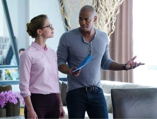 "Melissa Benoist stars as Kara Zor-El, Superman's cousin, in ""Supergirl."" Mehcad Brooks co-stars as James Olsen.  Photo: Richard Cartwright/CBS"