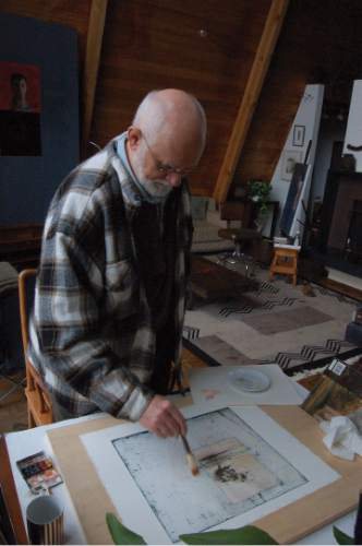 Tribune File Photo  Trevor Southey at work his studio.