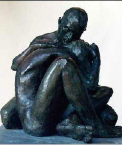 "Trevor Southey's sculpture ""Brother's Keeper II."" Southey died on Tuesday, Oct. 20, 2015, in a Salt Lake City hospice, at the age of 75. Trevor Southey  