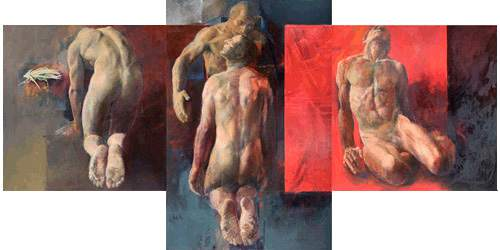 "Trevor Southey's triptych ""Prodigal."" Southey died on Tuesday, Oct. 20, 2015, in a Salt Lake City hospice, at the age of 75. Trevor Southey  