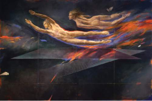 """Flight Aspiration"" by Trevor Southey caused an uproar in 1982 when it was displayed at the The Salt Lake International Airport."