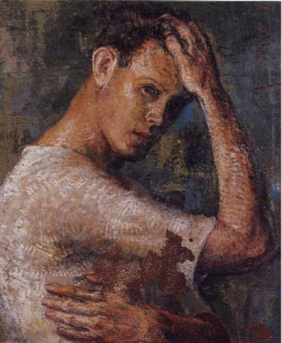"""Self Portrait"" by Trevor Southey was painted in 1959 when the artist was 19 years old."