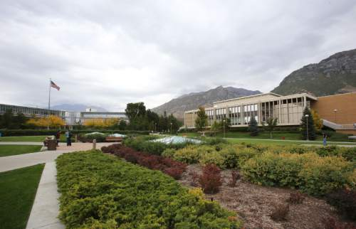 Francisco Kjolseth  |  Tribune file photo  Pictures of the Brigham Young University campus.