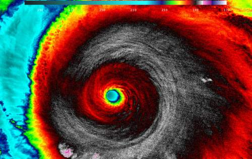Courtesy     Tim Edgar  An satellite image of Hurricane Patricia.