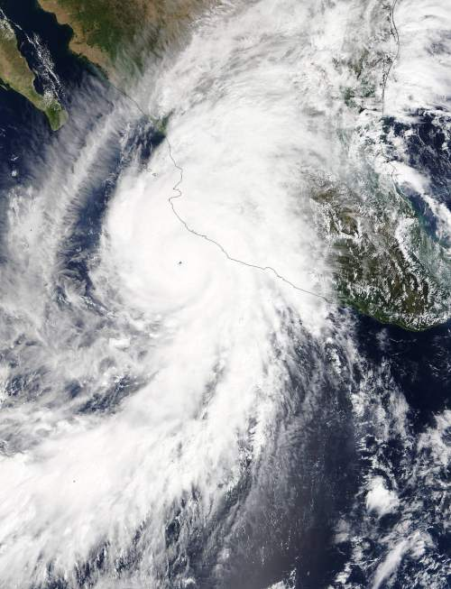 Courtesy  |  Tim Edgar  An image of Hurricane Patricia.