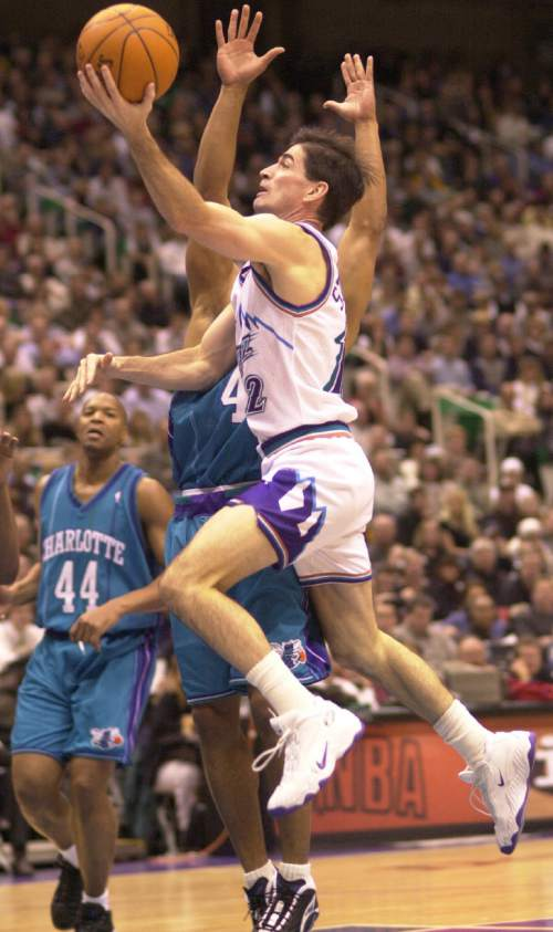 John Stockton played his entire career for the Jazz and made the All-Star Game 10 times.  Rick Egan/Tribune file photo
