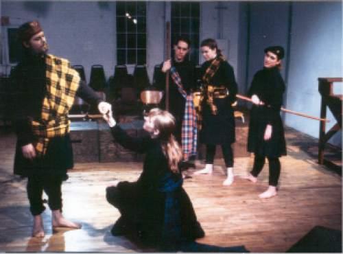 Courtesy  |  Plan-B Theatre Company  Macbeth, 1992, set designed by Randy Rasmussen.