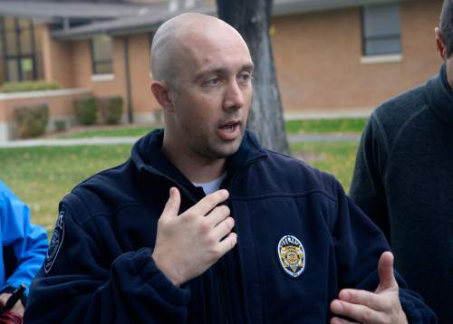 Al Hartmann  |  The Salt Lake Tribune Unified Police Lt. Lex Bell said detectives were just beginning their investigation but that it appeared that Russell Jacobs was trying to defend his home against an armed intruder.  The fight entered the street outside the Millcreek home where intruder Jesse Bruner and Jacobs exchanged gun shots where both died.
