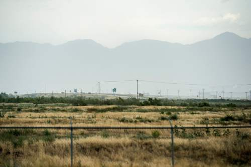 Chris Detrick  |  The Salt Lake Tribune Land near 7200 West and I-80 in Salt Lake City Tuesday August 11, 2015.  The Prison Relocation Commission unanimously recommended building a new penitentiary west of the Salt Lake City International Airport.