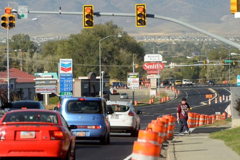 Al Hartmann  |  The Salt Lake Tribune Recently redone and updated stretch of 5300 South from I-15 to Redwood Road is up and running last week.