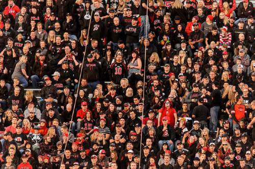 Trent Nelson  |  The Salt Lake Tribune Waldo makes a Halloween appearance in the stands as the University of Utah hosts Oregon State, NCAA football at Rice-Eccles Stadium in Salt Lake City, Saturday October 31, 2015.