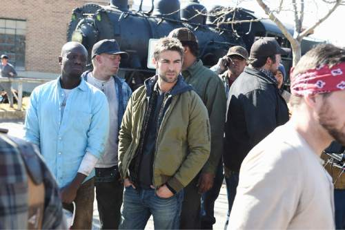 "Keston John and Chace Crawford in the pilot of ""Blood & Oil.""  Photo: Fred Hayes/ABC"