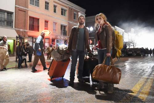 "Chace Crawford and Rebecca Rittenhouse star in ""Blood & Oil,"" which is being filmed in Utah.  Photo: Fred Hayes/ABC"
