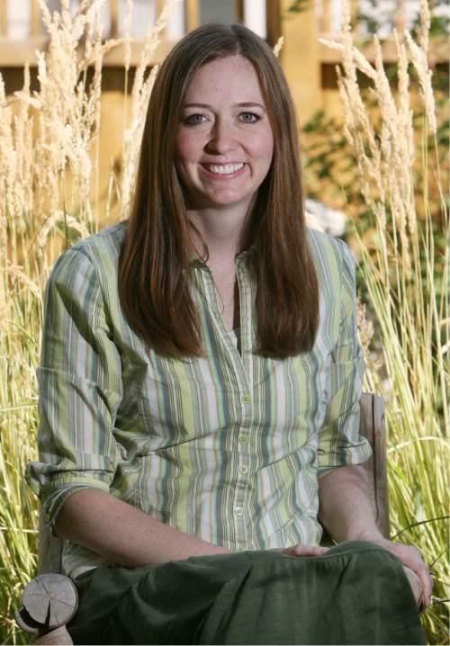 Steve Griffin | The Salt Lake Tribune   Shannon Hale at her South Jordan home in 2012.