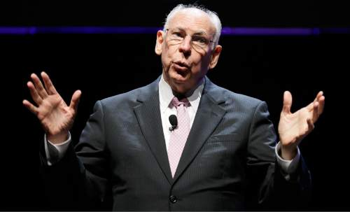 Pastor Rafael Cruz, father of U.S. Sen. Ted Cruz, R-Texas, speaks during The Family Leadership Summit, Saturday, Aug. 9, 2014, in Ames, Iowa. (AP Photo/Charlie Neibergall)
