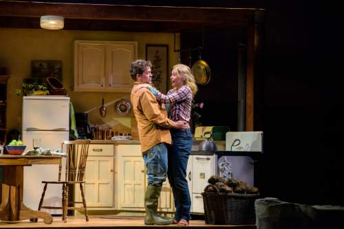 "Alexander Weisman  |  Courtesy    Tom O'Keefe, left, and Amy Bodnar in PTC's staging of John Patrick Shanley's lyrical Irish love story ""Outside Mullingar."""