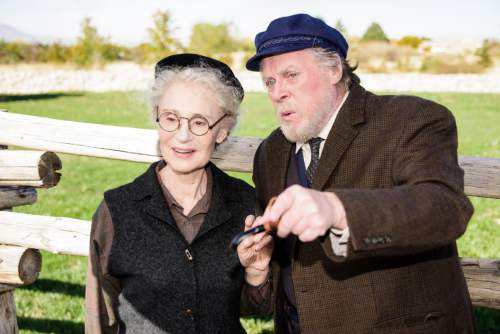"Alexander Weisman  |  Courtesy  Sybil Lines (Aoife) and Max Robinson (Tony) in ""Outside Mullingar."""
