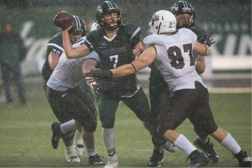 Troy Wayrynen  |  Portland State communications  Former Mountain Crest star QB and BYU WR Alex Kuresa is thriving in his first year leading the Portland State Vikings offense.