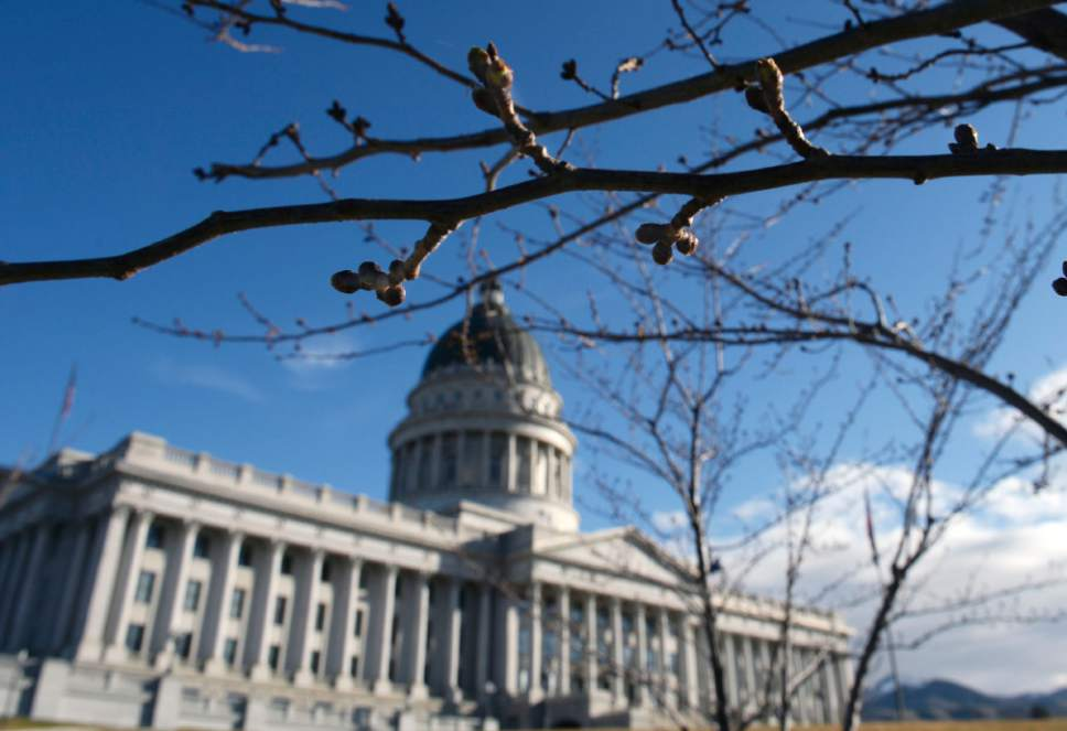 Al Hartmann  |  Tribune file photo.  The Utah state Capitol.
