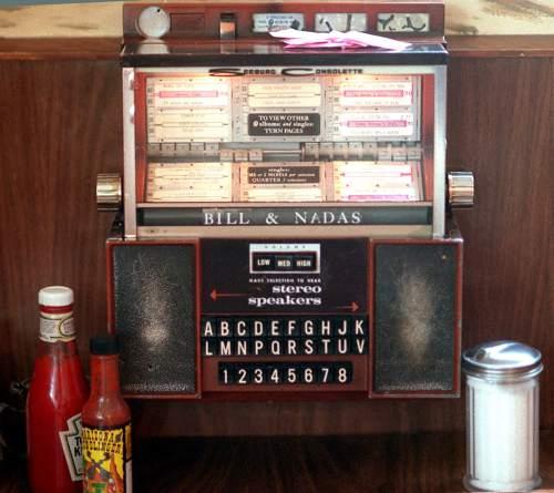 Rick Egan  |  Tribune File Photo  Bill and Nada's had a juke box at every table. Aug. 6. 1999.