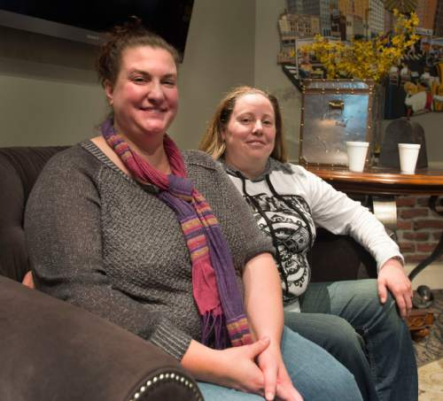 Steve Griffin  |  The Salt Lake Tribune  Foster parents April Hoagland and Beckie Peirce of Carbon County say the baby they've fostered, loved, and raised for the last three months will be removed from their home and sent to heterosexual foster parents because a judge said the baby would be better-off. Hoagland and Peirce, who are legally married, were interviewed in Salt Lake City, Wednesday, November 11, 2015.