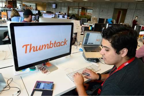 Scott Sommerdorf   |  The Salt Lake Tribune Gabriel Torres at Thumbtack in Sandy, Wednesday, October 28, 2015.