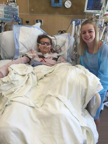 Courtesy  |  Paxton Guymon  Baylee Hoaldridge suffered serious burns to 60 percent of her body after a fiery off-road vehicle crash in July. She was taken off of life support and died on Monday.