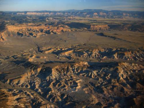 Rax Bloxham  |  Southern Utah Wilderness Alliance  The BLM has proposed parts of the Mussentuchit Badlands on the western edge of the San Rafael Swell for oil and gas leasing.