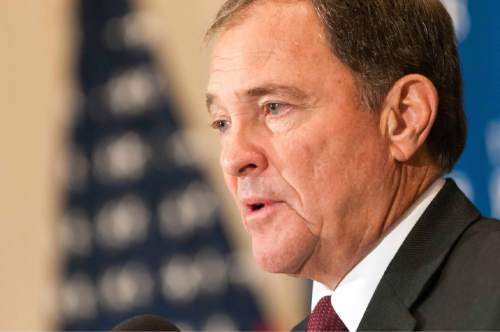 Courtesy  |  Noel St. John  Utah Gov. Gary Herbert is formulating a position on taking Syrian refugees in the state. A number of Republican governors have said they will block such resettlements in their states, although it is unclear what authority they have.