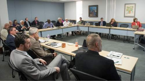 Rick Egan  |  The Salt Lake Tribune  The Utah Transit Authority Board meets in a committee meetings, Wednesday, November 4, 2015.