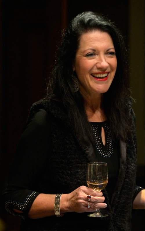 Leah Hogsten  |  The Salt Lake Tribune Wine educator Sheral Schowe talks about  French wines and suggests a variety of bottles that go with a Thanksgiving meal,Tuesday, November 10, 2015.