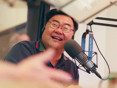 Steve Griffin  |  Tribune File Photo  Salt Lake County commissioner Randy Horiuchi was a guest talk radio show host for Kall radio. Aug. 1998.