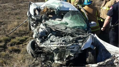 Courtesy     Utah Highway Patrol  Two people died after a crash on U.S. 6 near Helper.