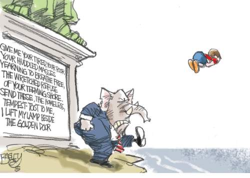 Pat Bagley cartoon for Nov. 22, 2015.