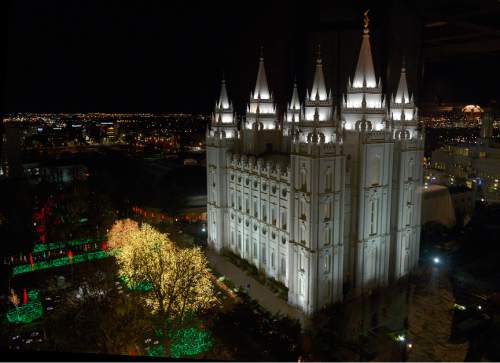 Leah Hogsten  |  Tribune file photo Temple Square in Salt Lake City on Friday, November 28, 2014..