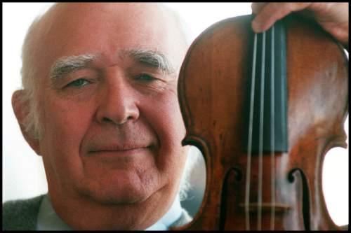 Steve Griffin  |  Salt Lake Tribune  Retiring Utah Symphony music director Joseph Silverstein in his Salt Lake home on April 18, 1998.