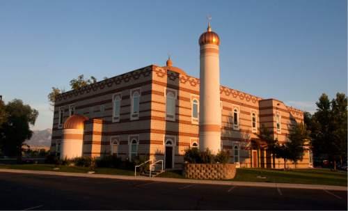 Steve Griffin | The Salt Lake Tribune   The evening sun illuminates the Khadeeja Islamic Center in West Valley City, Utah Sunday July 21, 2013.