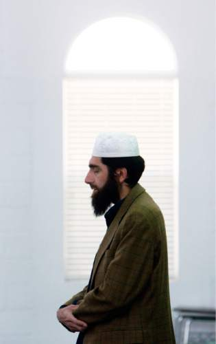 Francisco Kjolseth  |  The Salt Lake Tribune Imam Muhammed S. Mehtar of the Islamic Society of Great Salt Lake in West Valley City leads prayers on Monday, May 2, 2011, following the announcement of Osama bin Laden's death.