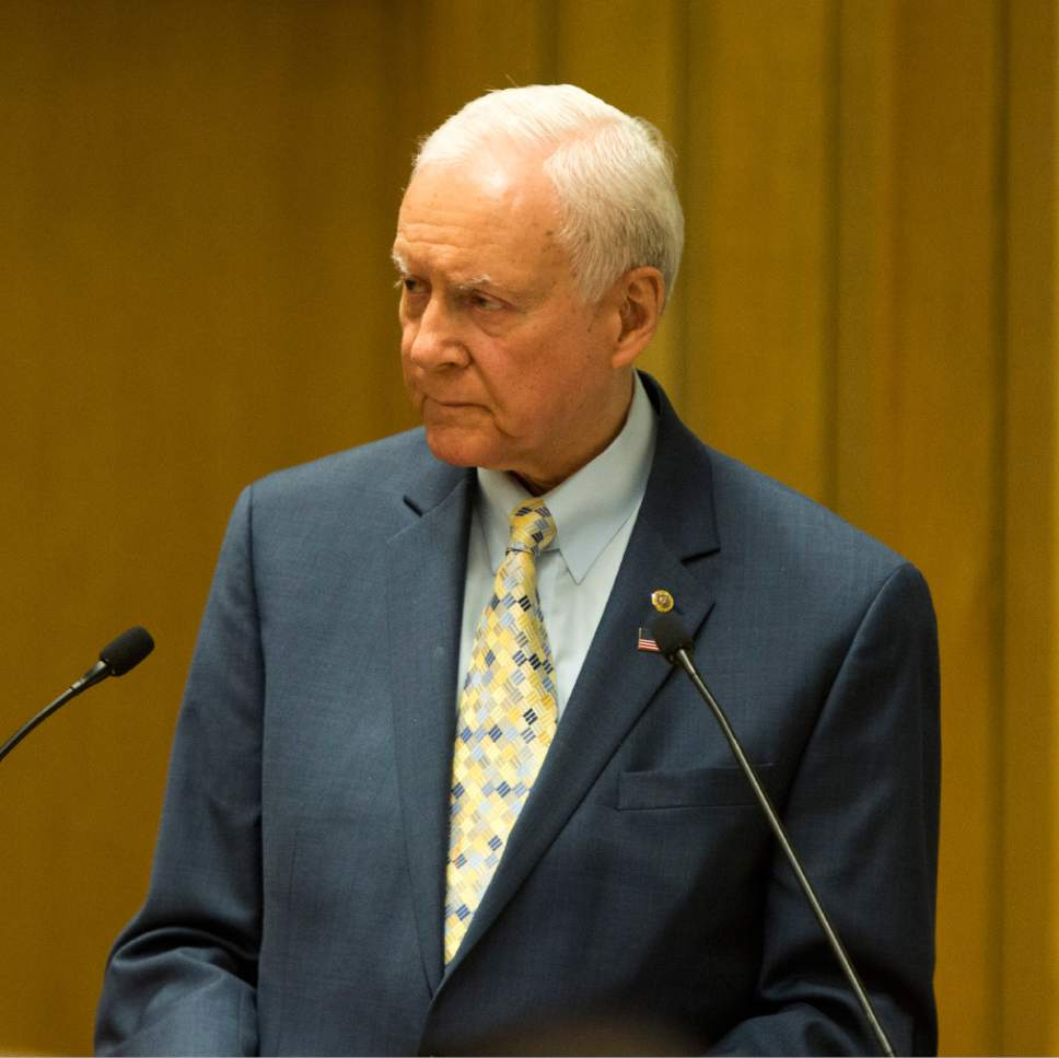 Rick Egan  |   Tribune file photo  Sen. Orrin Hatch, R-Utah, has joined with many Republican colleagues in saying Supreme Court Justice Antonin Scalia's replacement shouldn't be confirmed until next year. His argument for delay was in contrast to his past position that the Senate had a duty to confirm the president's court appointees in a timely fashion.