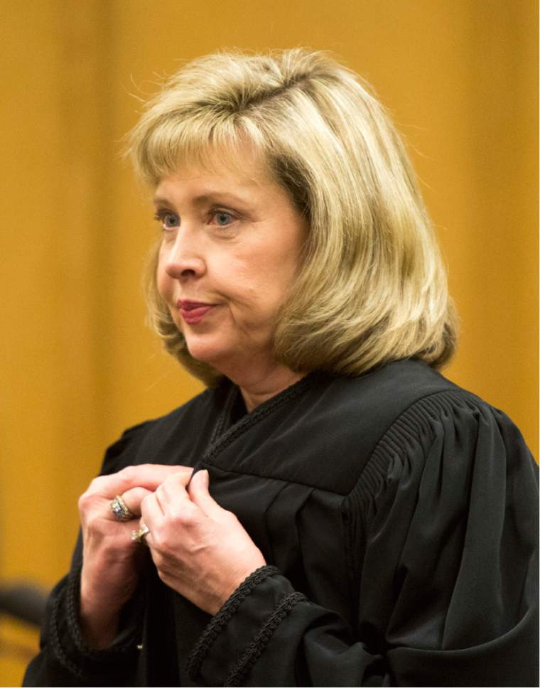 Rick Egan  |  The Salt Lake Tribune  Jill N. Parrish, during her investiture as a new federal judge, at the Federal Court Room, Monday, November 23, 2015.