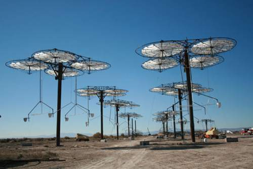 "|  Courtesy iaus.com  ""Solar trees"" at International Automated Systems' demonstration site near Delta"