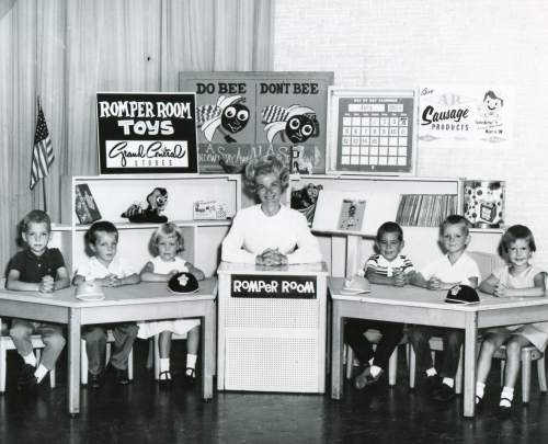 Courtesy photo | Edna Anderson-Taylor and her students sit on the set of children's TV show Romper Room. Anderson-Taylor played Miss Julie on the local version of Romper Room in the 1960s and 1970s.