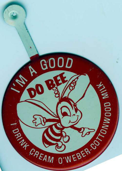 "Courtesy photo | A ""Do Bee"" pin advertisement for Cream O Weber. ""Do Bee"" was a part of the show Romper Room, of which Edna Anderson-Taylor taught preschool on live television as Miss Julie for 17 years."