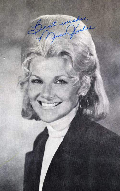 Courtesy photo | A signed portrait of Edna Anderson-Taylor was given to each child who appeared on the live television show, Romper Room. Anderson-Taylor played Miss Julie on the local version of Romper Room in the 1960s and 1970s.