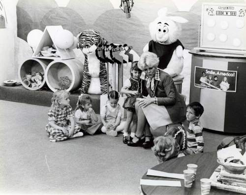 Courtesy photo | Edna Anderson-Taylor speaks to children during a live taping of children's TV show Romper Room. Anderson-Taylor played Miss Julie on the local version of Romper Room in the 1960s and 1970s.