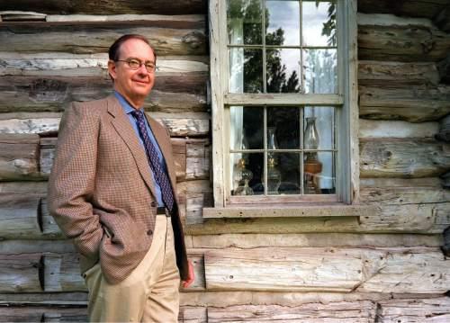 Gibbs Smith, book publisher, environmentalist and former Sierra Club president, outside his Layton publishing office.   ryan galbraith/photo
