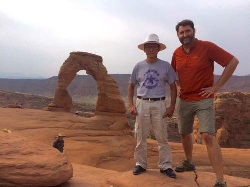 |  Courtesy Alan Gardner  Pah De Paw and Alan Gardner took a trip to Moab and Arches National Park in August. Gardner