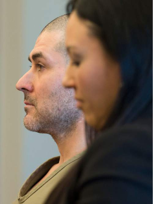 Steve Griffin  |  The Salt Lake Tribune  Billy Justin Charles, 39, who pleaded guilty to second-degree felony manslaughter in connection with the 1996 death of his live-in girlfriend, 18-year-old Jamie Ellen Weiss, 18, listens during his sentencing hearing in front of Judge Mark Kouris at the Matheson courthouse  in Salt Lake City, Monday, November 30, 2015.