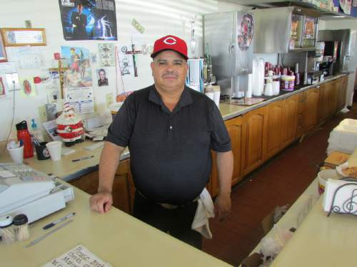 Tom Wharton  |  The Slat Lake Tribune   Salt Flats Cafe owner Marcelo Escobedo opened a small Mexican restaurant near the Bonneville Salt Flats during Speed Week 13 years ago. If the annual racing event is cancelled this year, he says the business would be hurt.